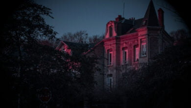 A creepy old house in France