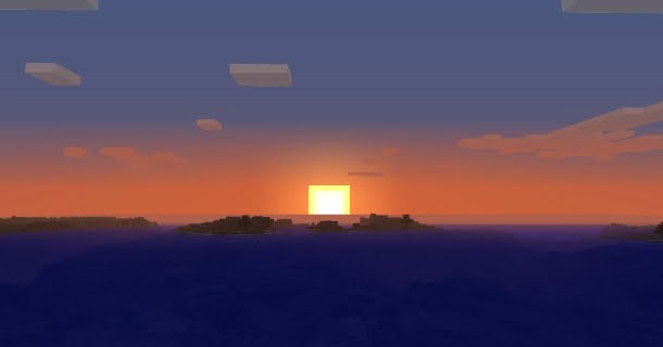 A Minecraft Sunrise