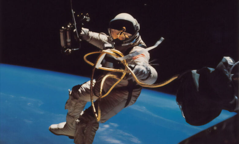 An astronaut in outer space