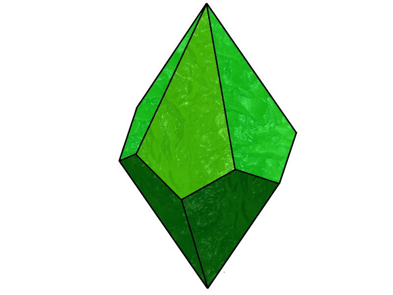 A green stone