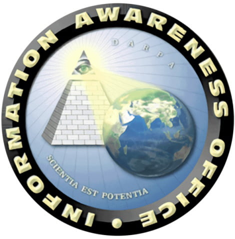 The seal of DARPA's defunct Information Awareness Office