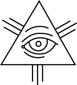 Illuminati Triangle Eye Drawing Also known as the Eye of