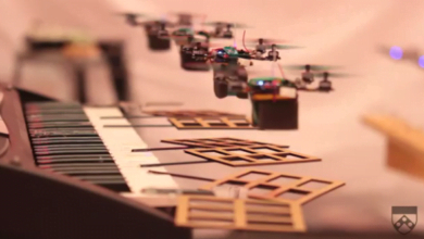 Photo of Flying Robots Perform The James Bond Theme