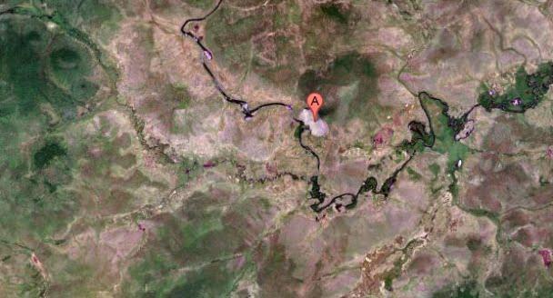 Location of Lake Cheko