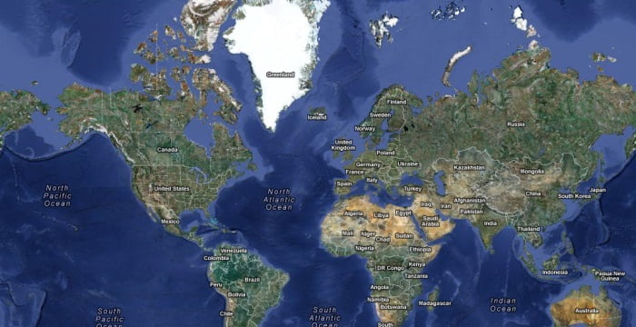 Lovely Google Maps Anomaly: The Poles