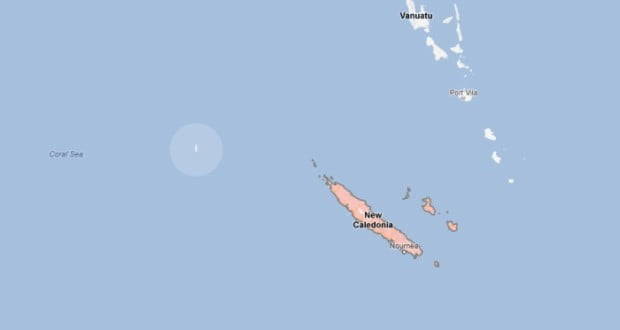 Sandy Island on Google Maps