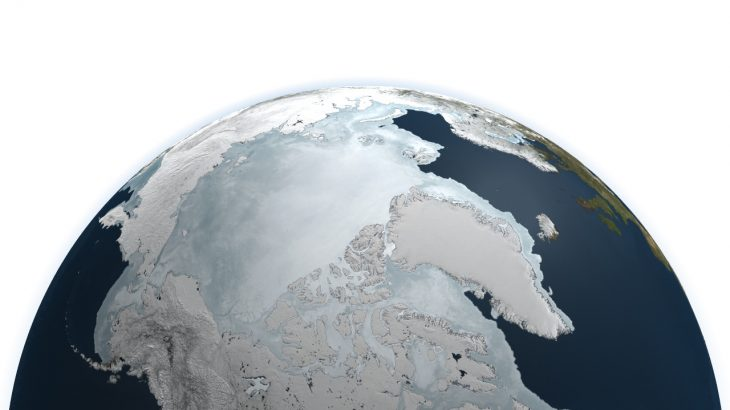 The North Pole as seen from space