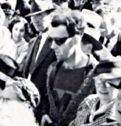 A close-up of the alleged time traveler in Canada
