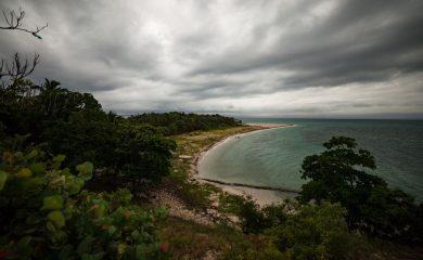Storm clouds gathering near Haiti