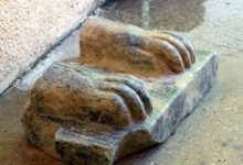 Photo of Fragment of Ancient Egyptian Sphinx Found In Israel