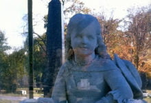 Photo of Inez Clarke, the Haunted Statue of Graceland Cemetery