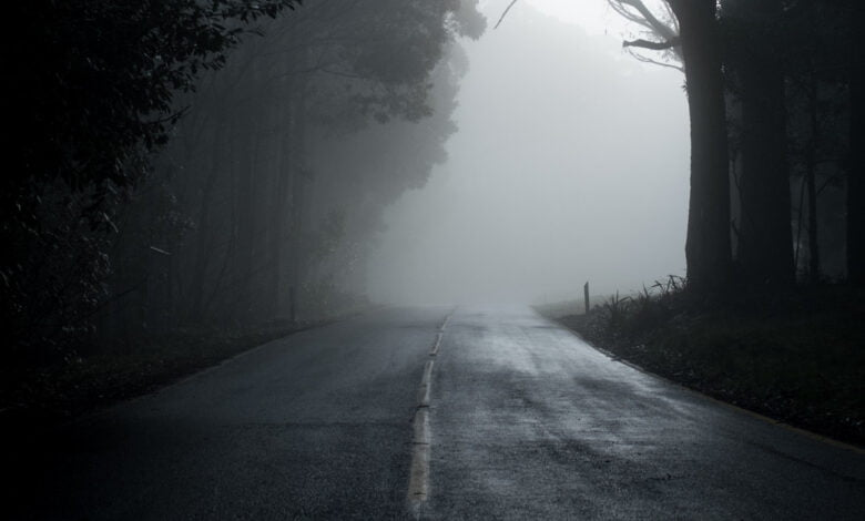 A dark and mysterious road