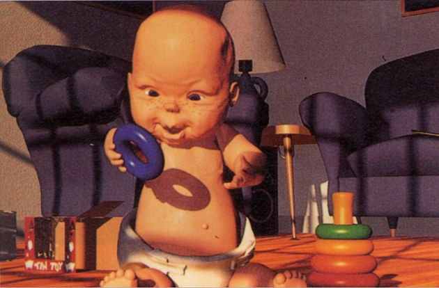 The baby from Tin Toy and its beak