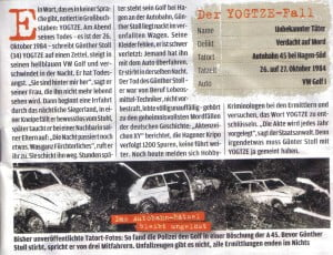 A news article clipping concerning the Yogtze-Fall case