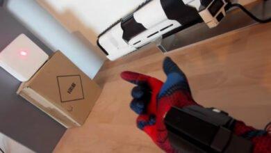 Demonstration of homemade Spider-Man webslinger