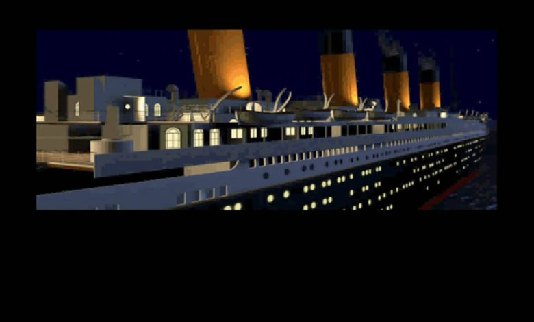 The side of the game's 3D recreation of Titanic