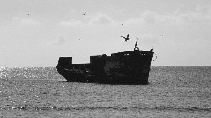 A ship lost at sea