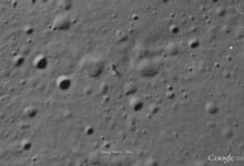 Photo of Google Maps Anomalies: An Alien's Shadow on the Moon
