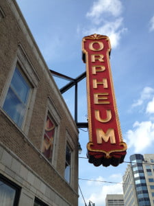 The Orpheum sign