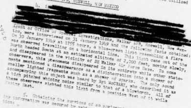 Photo of Declassified Air Force UFO Files Appear at The Black Vault