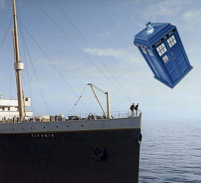 Image: Still from Titanic (1997) and...The Doctor?