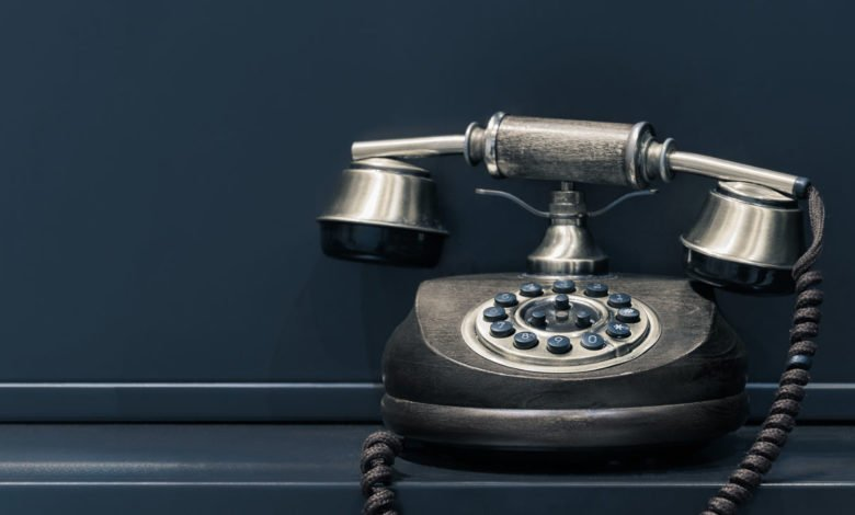 an old-fashioned telephone
