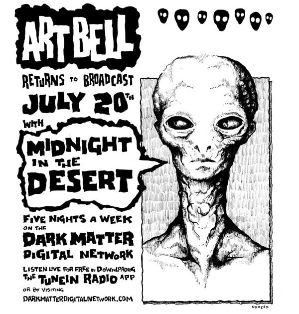 A fan-made poster for Art Bell's Midnight in the Desert