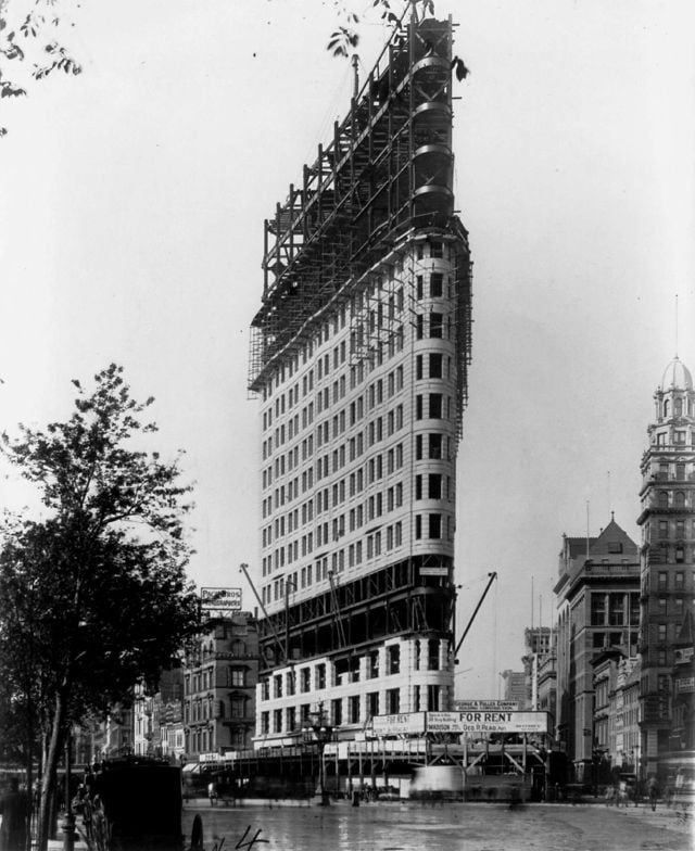 The Flatiron Building Under Construction