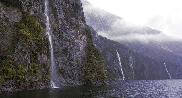 A majestic waterfall