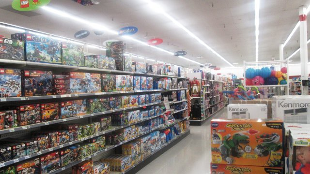 An aisle in a toy store -- is it haunted?