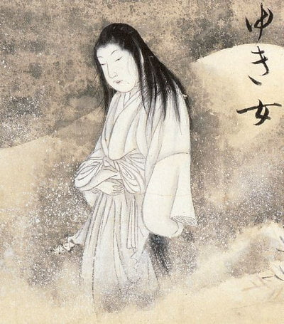 An illustration of Yuki-onna