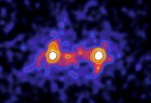 """Photo of Scientists Capture """"First Image"""" of Dark Matter Connecting Galaxies"""