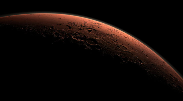 Daybreak at Gale Crater - Mars