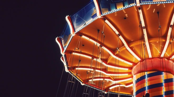 Swings at the carnival