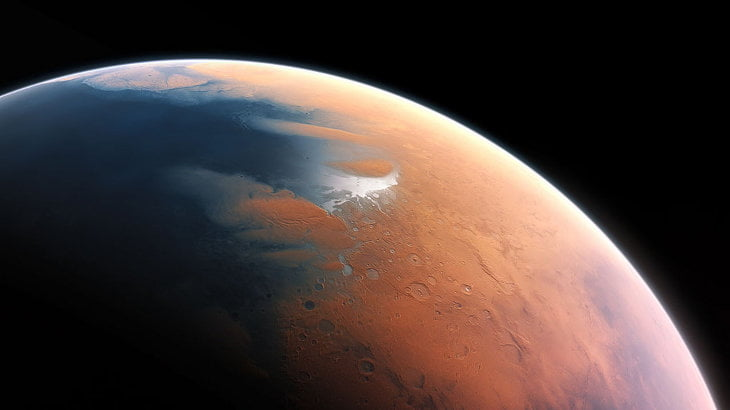 An artist's impression of Mars four billion years ago