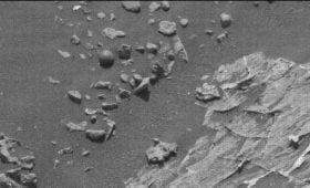 NASA image of weird ball on Mars
