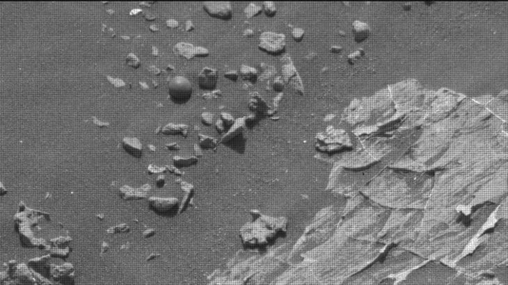 NASA image of weird ball on Mars