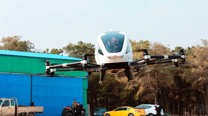 Video: Successful Flight Tests of Ehang 184 Manned Passenger Drone