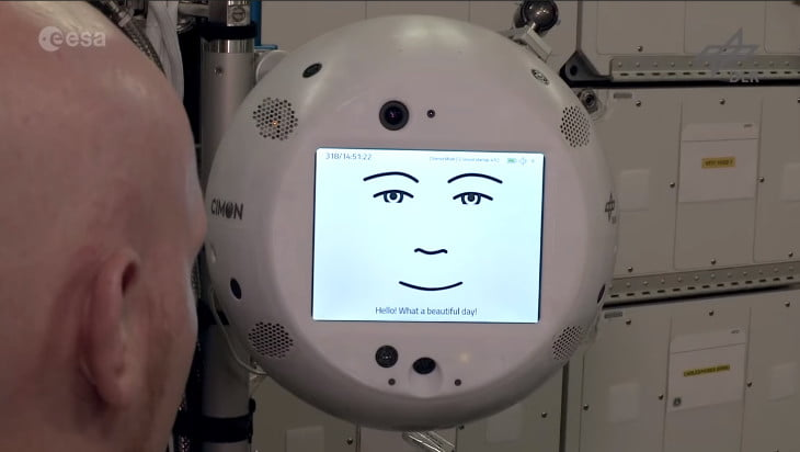 ESA Astronaut Introduces Cimon, the Floating Spherical Robot Aboard the ISS