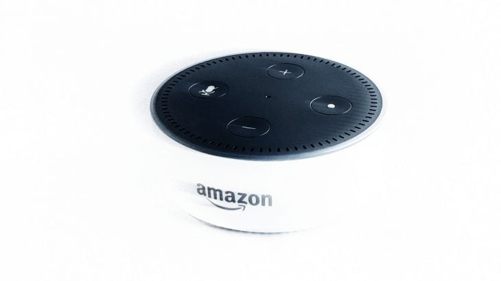 An Amazon Echo Dot
