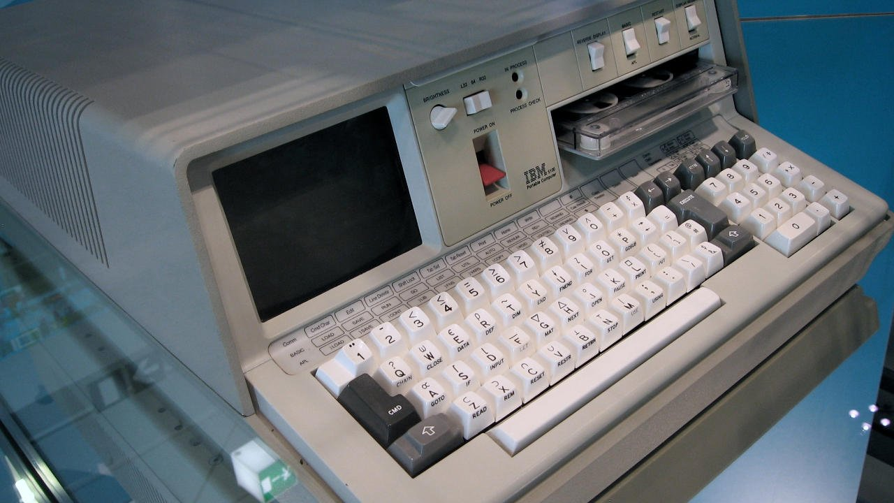An IBM 5100 portable computer