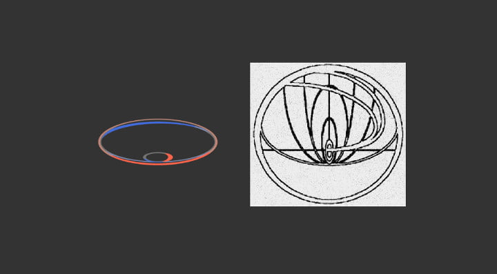 John Titor's insignia compared to CERN's webpage loading screen