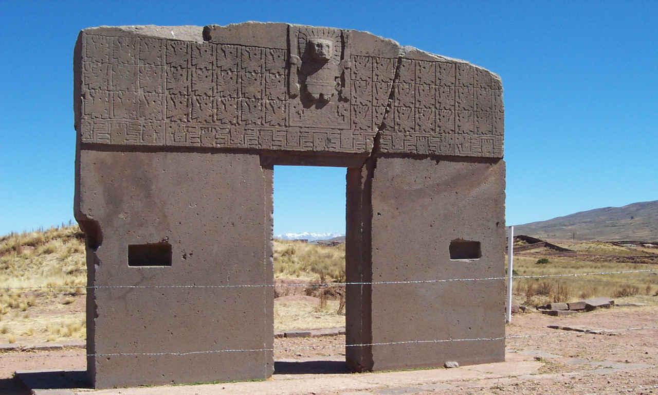 The Gate of the Sun in Bolivia