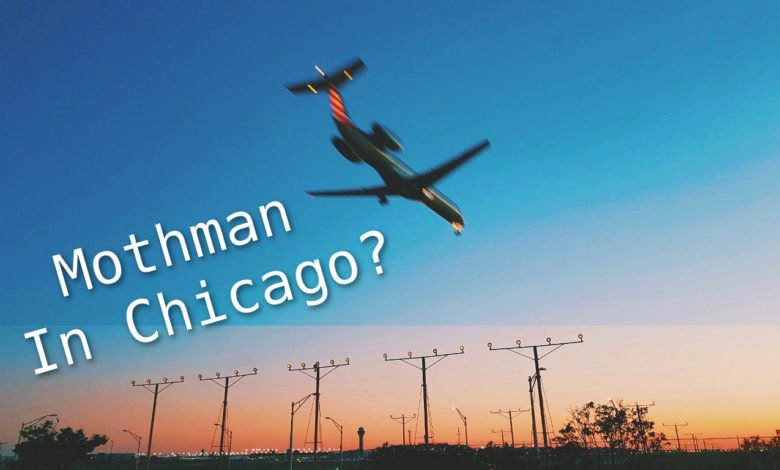 An airplane over Chicago