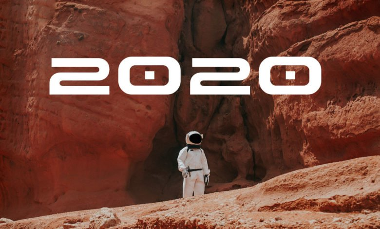 An astronaut on Mars is ready for the new year