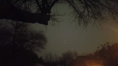 "Photo of Texas Residents Capture Video Of ""Triangle UFO"" During New Year's Celebration"