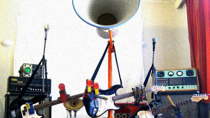 The Trons, a robot garage band