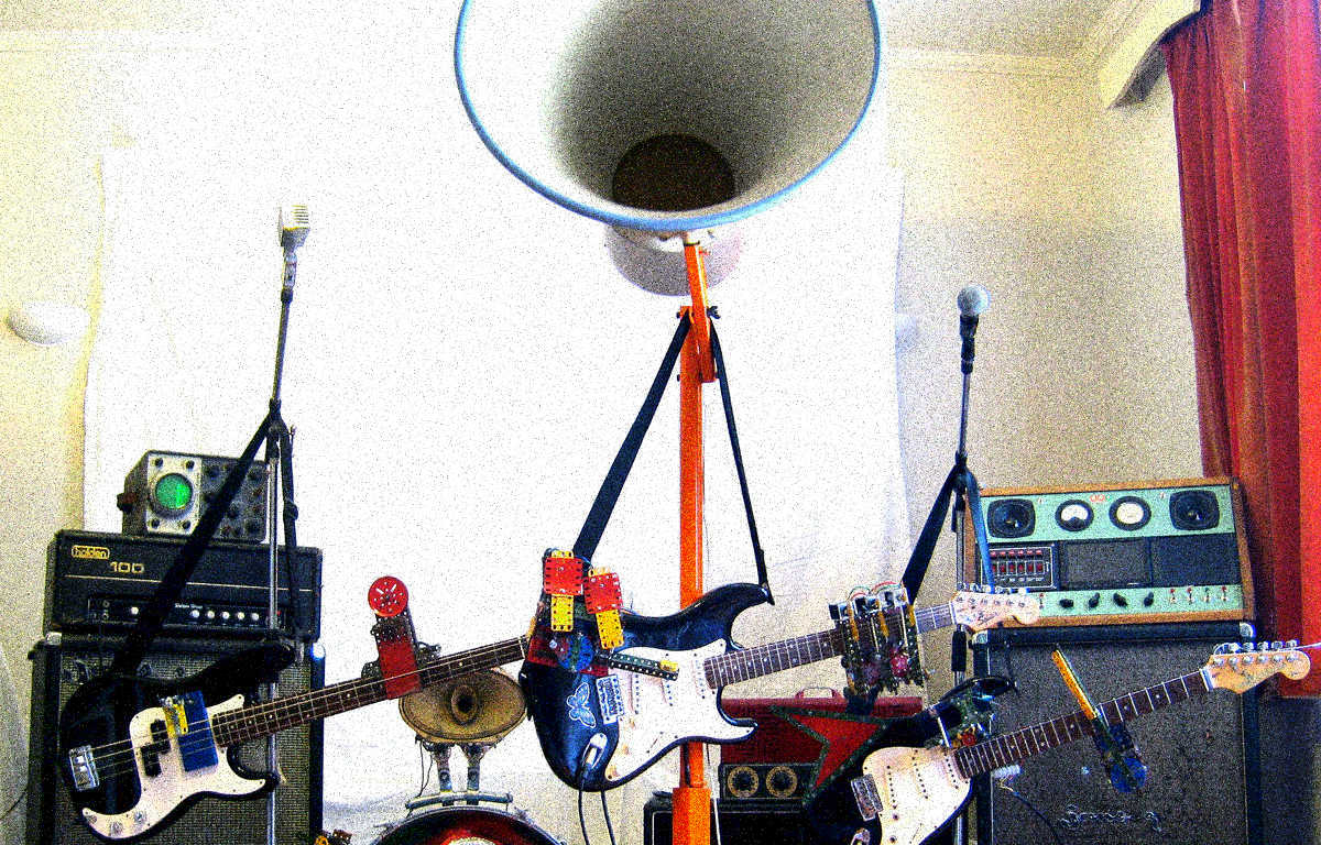 The Trons, a robot garage band