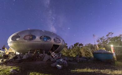 The Milky Way over the Frisco UFO
