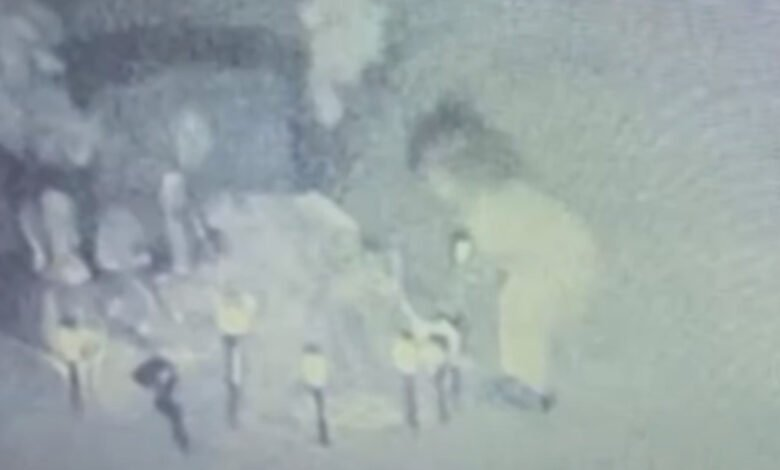 The alleged ghost of a girl captured on CCTV visiting a grave
